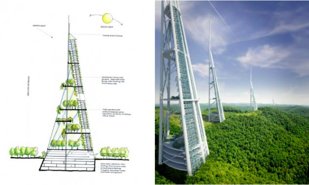 Tower Village Sketch (gauche) - EcoTower (droite)